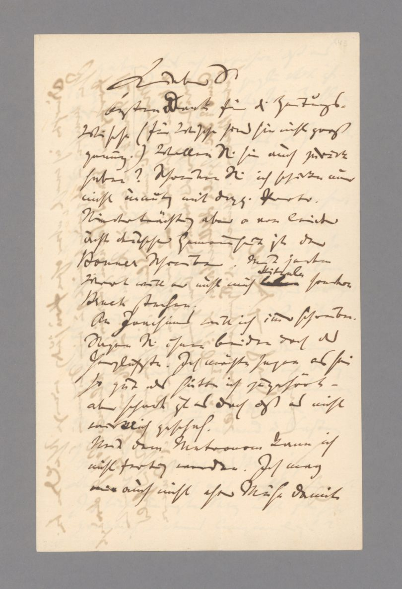Johannes Brahms Autograf Stargardt