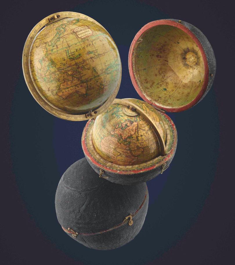 Bamberg Kunst- und Antiquitätenwochen Senger James Newton Taschenglobus