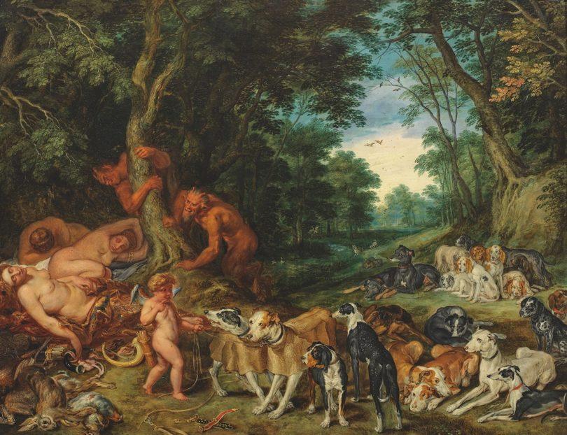 Schlafende Nymphen Brueghel Auktion Ahlden