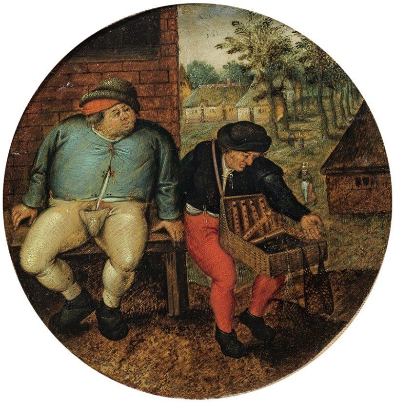 Der dicke Bauer und der Händler Brueghel Auktion Ahlden