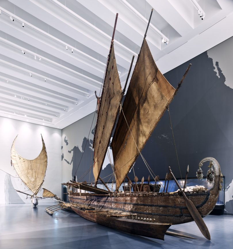 Humboldt Forum Eröffnung Ethnologisches Museum Luf-Boot